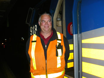 Donald Beaulieu was our engineer from Ottawa to Montreal. He's been an engineer for 29 years with Candian National and then with Via Rail.