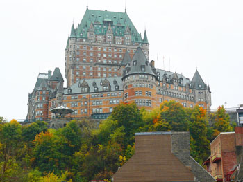 The historic Chateau Frontenac was built by the Candian Pacific Railroad to attract passengers.