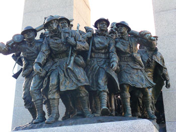 Detail from the National War Memorial in Ottawa