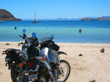 Bikes on the beach in Mulege on the Baja Peninsula. (Photos by Jeff Sewell & Chris Cullen)
