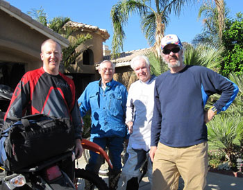 Team Baja - (L to R) Jeff Sewell, Julius Domotor, Tom & Chris Cullen