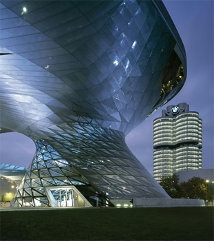 The tornado that is the BMW World museum.