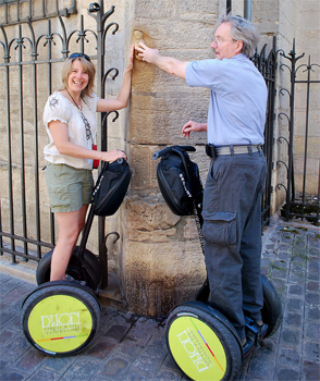 On the Segway Scooters in Dijon. Photos by Sony Stark.