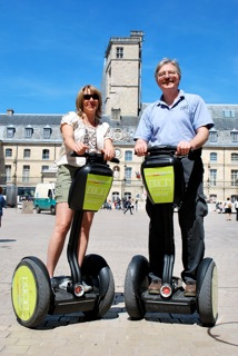Sony aboard her Segway in the ancient city of Dijon, in Burgundy, France.
