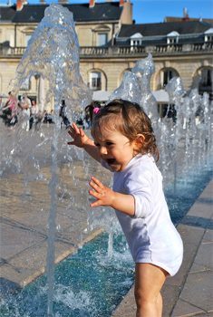 Water Baby in Liberation Square, Dijon.