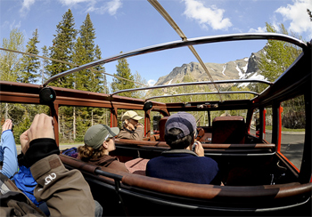 With the top down, the bus provides an even more spectacular view of this gorgeous park. photo by Donnie Sexton.