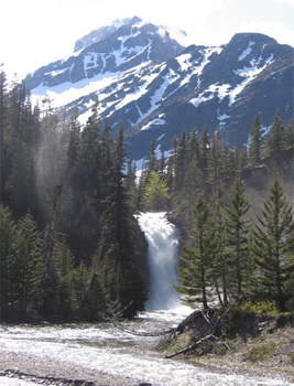 Trick Falls, in Glacier National Park.