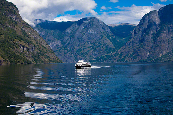 The View from the Ferry crossing the Fjord in Norway.