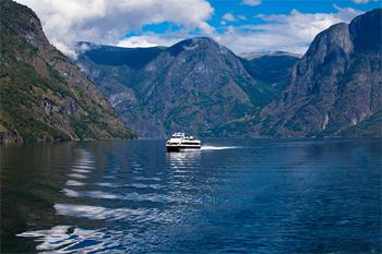 Aboard the ferry between Gudvangen and Flam, Norway.