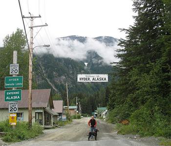 Hyder, Alaska.