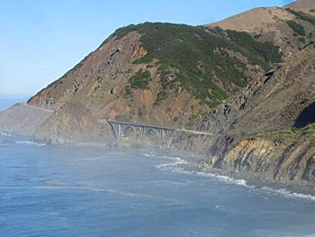 Highway One near Big Sur