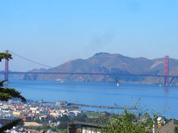 View of Golden Gate Bridge from Russian Hill