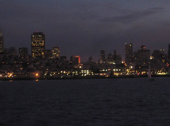View of the San Francisco skyline from Alcatraz