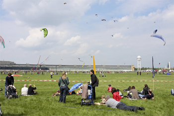 Tempelhof Park, the former airport in Berlin.