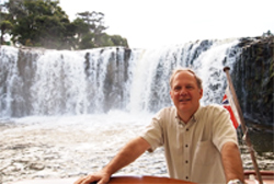 Hailulu Falls, in Pahia, New Zealand.