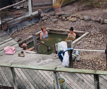 A very hot soak at the Ngawha Hot Springs in New Zealand's far north.
