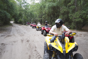 A posse of ATV riders in Croom ATV Park near Tampa Florida. photos by Peter Sacco.