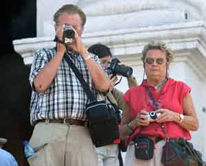 Photographer/tourists in Chichicasenango, Guatemala. photos by Paul Shoul.