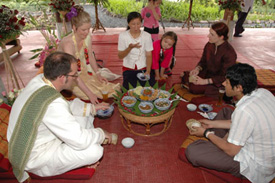 Traditional Northern Thai feast. Photo from www.northernthailand.com/romancing/ea/