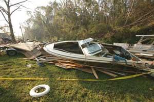 Damage from Hurricane Katrina - photo courtesy of cstx.org