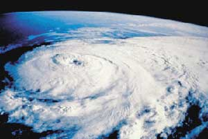 A hurricane, seen from the space shuttle - photo courtesy of noaa.gov