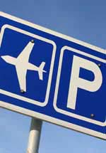 Airport parking sign