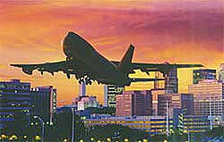 Inexpensive off-site lots at airport