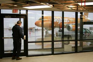 Passengers will board Skybus planes from ground level to save the price of a jetway. Photo courtesy of Wikipedia