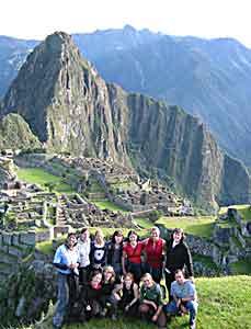 A G.A.P. Adventures tour group at Macchu Picchu in Peru.