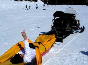 Kathia is rescued at a ski resort in Utah.
