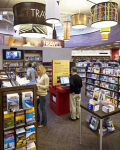 The new kiosks at Borders will put the resources of Frommer's at customers' fingertips.