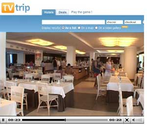 TVTrip also provides videos of lobbies and dining areas.