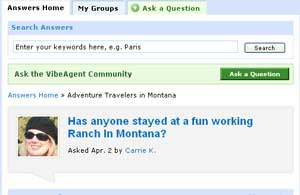 You can post travel queries and chat with other members.