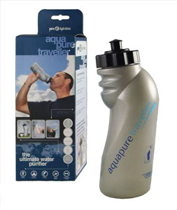 The Aquapure Traveller, for fast, easy, clean water on the go
