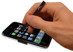 The Pogo Stylus makes operating an iPhone oh-so easy