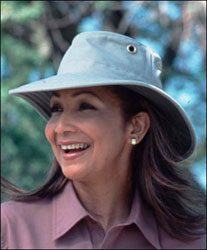 The Tilley Insect Shield Hat protects wearers from sun, rain, and those pesky bugs.