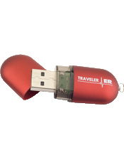 Traveler ER Flash Drive stores Your medical information.