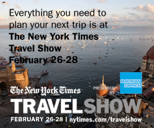 Join GoNOMAD at the NY Times Travel Show Feb 26-28 at the Javits Center, NYC.