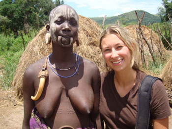 Julia in Ethiopia with a local woman