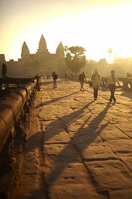 Angor Wat at sunrise