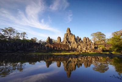 Angkor Thom at sunset