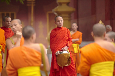 Monks in Luang Prabang, Laos. Photos by Ewen Bell