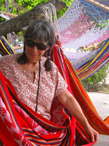 Hammock shopping in Mexico. Photo by Evelyn Hannon.