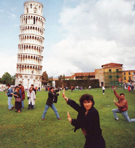 It's fun to be silly, but cut out the tourist behavior! You're making yourself a target!
