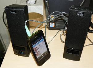Hercules USB powered speakers. photo: Max Hartshorne.