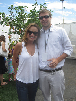 Giada DeLaurentiis with Will McGough.
