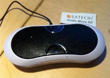 Satechi Audio Move SD portable speaker.
