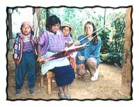 Weaving with Mayan women in Guatemala.