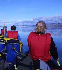 Sea Canoeing under blue skies