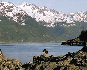 Relaxing by a Lake in Haines, Alaska where YWE takes kayaking trips - photos courtesy of ArcticWomen.com